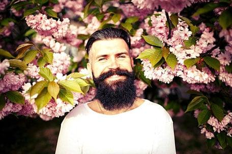 Frühlingfrischer Bart Träger