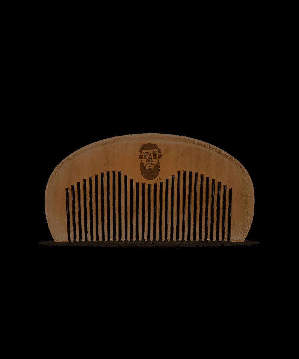 Bartkamm in brauner Farbe von Heisenbeard aus Pfirsichbaum Holz