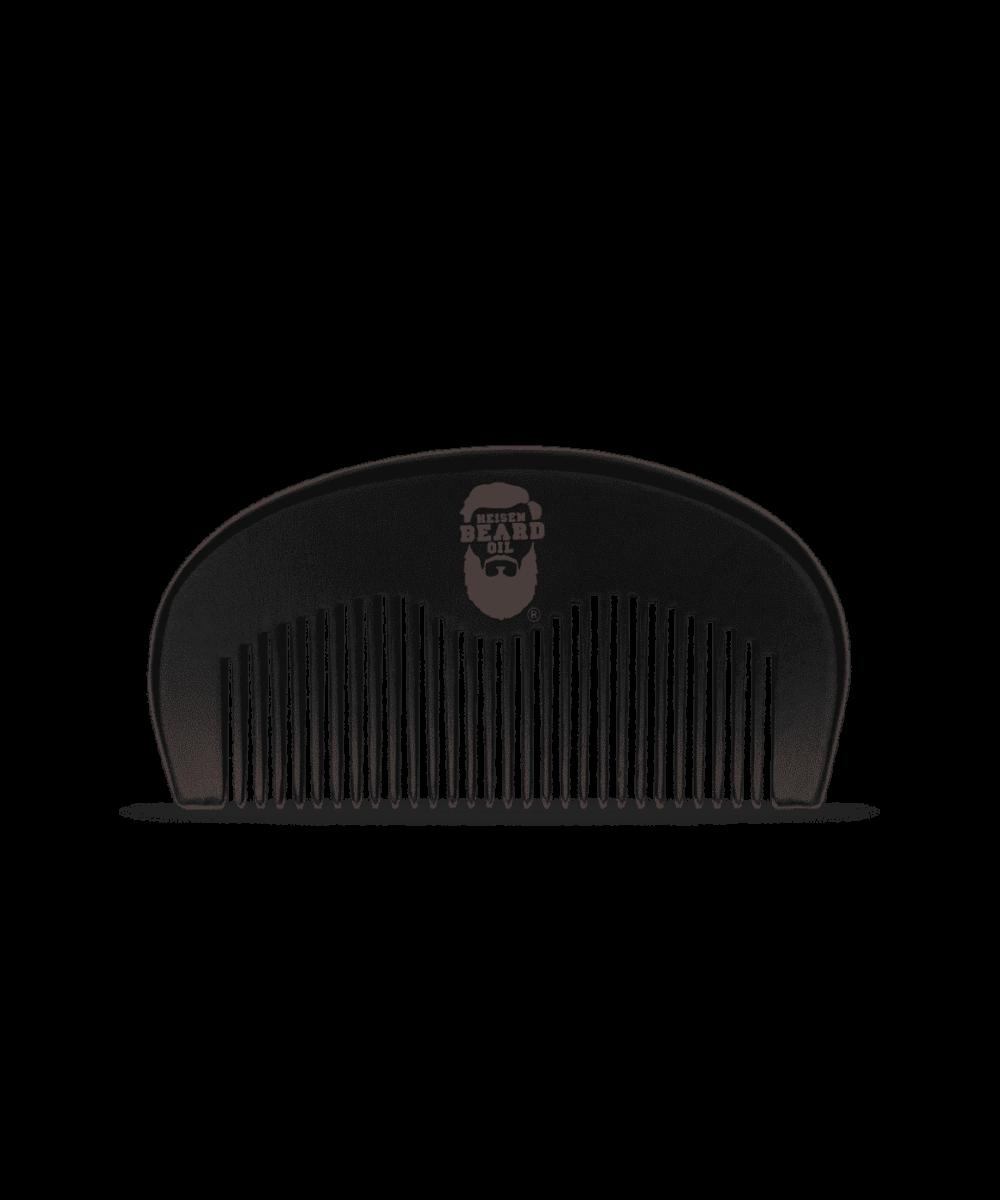 Bartkamm in schwarzer Farbe von Heisenbeard aus Pfirsichbaum Holz