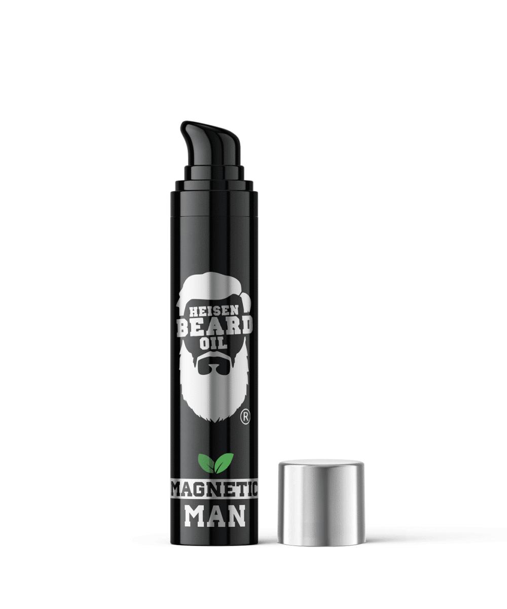 Bartöl 3in1 Magnetic Man von Heisen Beard Oil mit 5 pflegenden Ölen