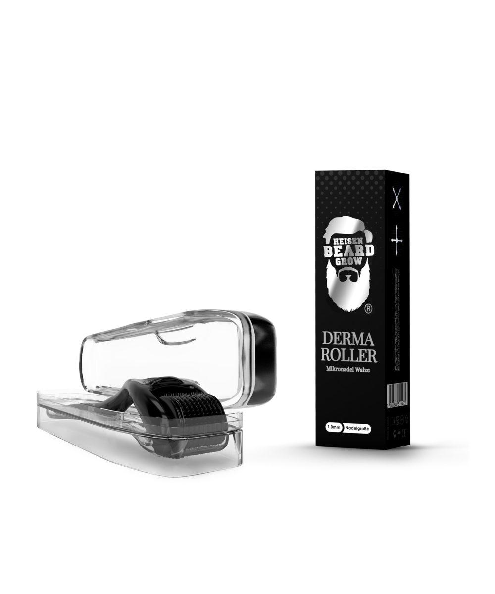 Dermaroller Bart mit Case und Verpackung
